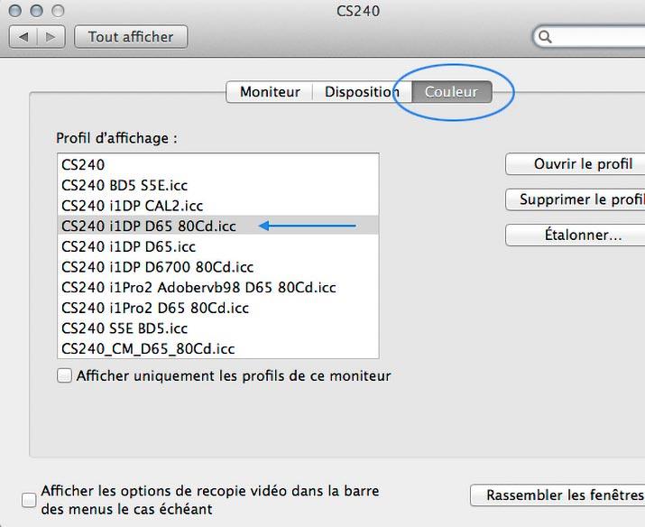 Calibrage couleur ecran mac for Choisir ecran pc
