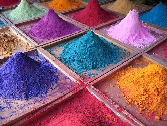 Pigments de couleurs