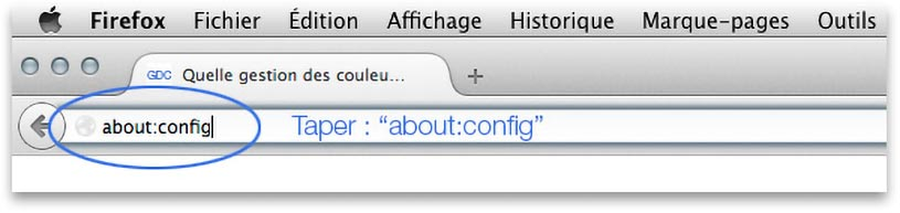 About config de Firefox