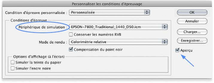 Menu Personnaliser Les Conditions Depreuvage De Photoshop