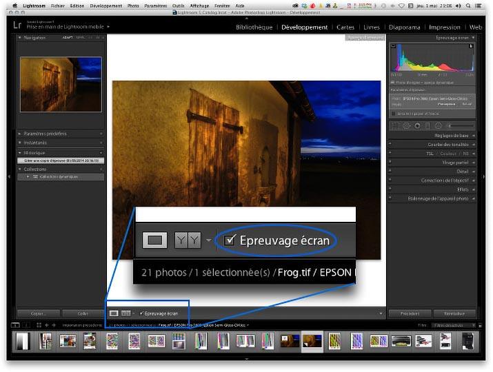 photo de logiciel d'epreuvage à l'ecran