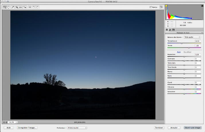 Camera Raw de Photoshop Elements