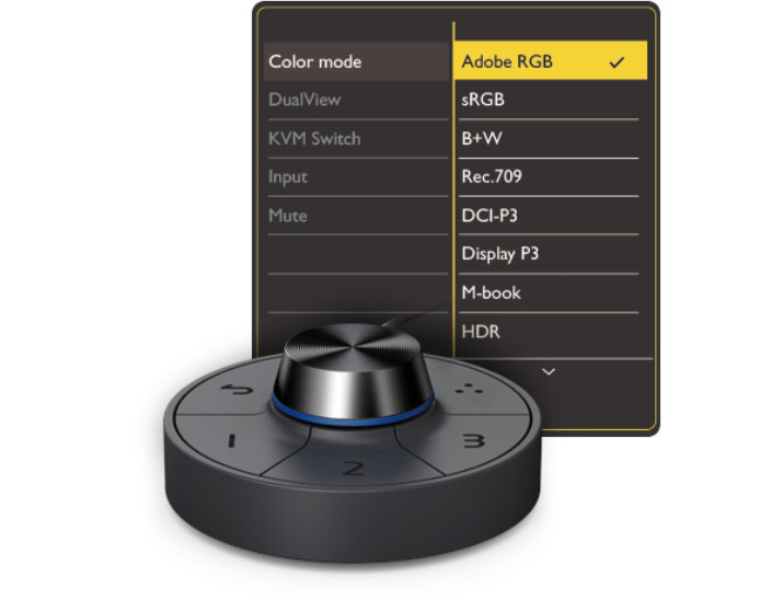 Remote control G2 and its presets of the BenQ SW270C