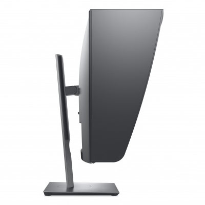 Dell UltraSharp UP2720Q et sa casquette incluse de profil