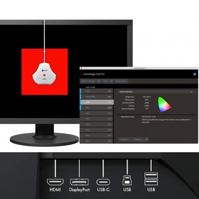 Connectiques de l'écran Eizo ColorEdge CS2740