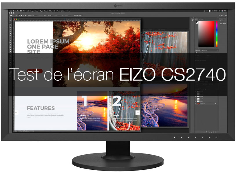 Test de l'Eizo ColorEdge CS2740