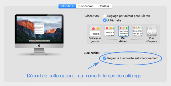 Calibrage couleur ecran mac for Ecran photo mac