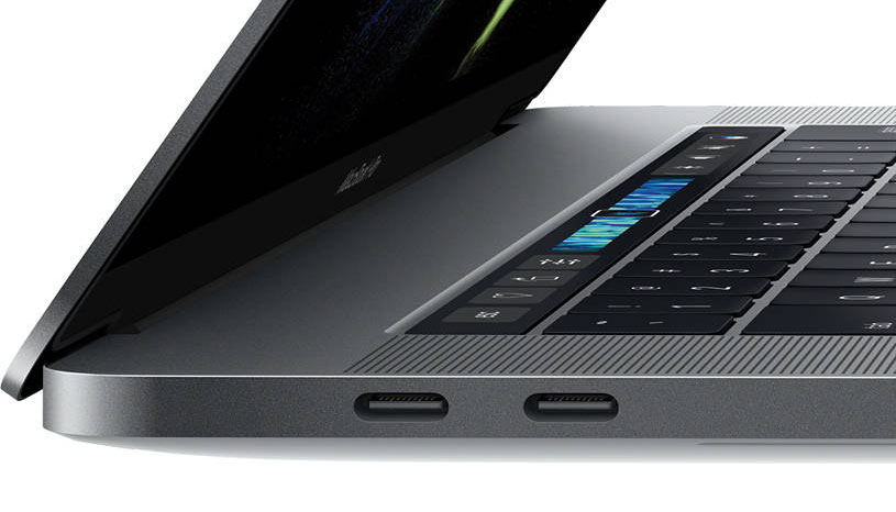 Connectique usb-c des MacBook Pro 13 pouces Apple de 2017